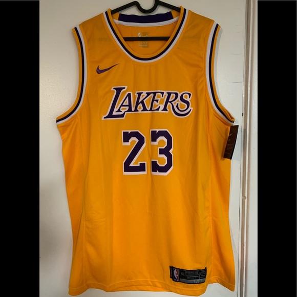 77e45e96cd5 LeBron James 23 Los Angeles Lakers Swingman Jersey. NWT. Nike
